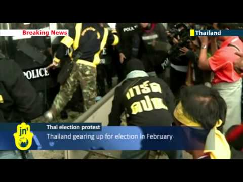 Thai protesters clash with police over election