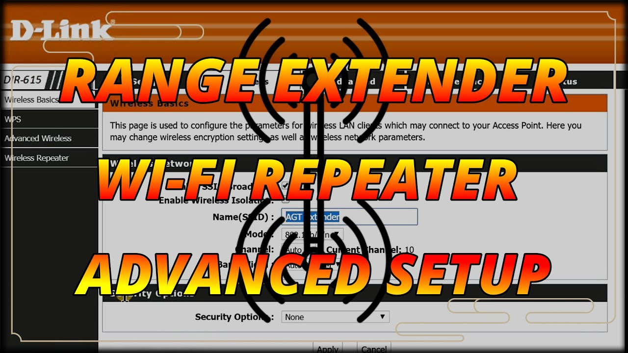 D-Link Router Setup As Wireless Repeater / Wireless Range Extender