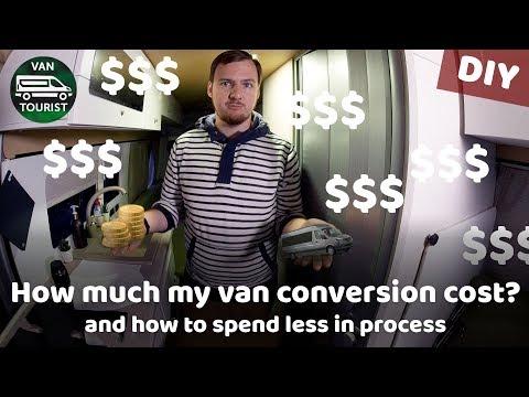 How much van conversion costs? Full price of diy camper van RV build