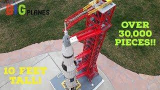 Custom LEGO Apollo 11 Saturn V - 10 feet tall over 30,000 pieces