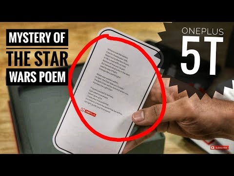 MYSTERY OF THE POEM INSIDE ONEPLUS 5T STAR WARS EDITION (SOLVED)!!!!