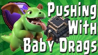 Clash of Clans - Baby Dragons in Legends League! - TH9 Pushing with Baby Drags! CoC