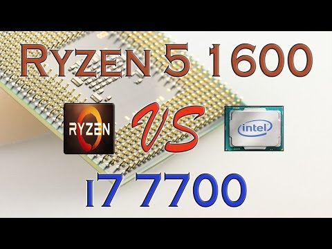 RYZEN 5 1600 vs i7 7700 - BENCHMARKS / GAMING TESTS REVIEW AND COMPARISON / Ryzen vs Kaby Lake
