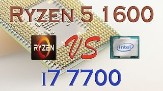 ryzen 5 1600 vs i7 7700 benchmarks gaming tests review and comparison ryzen vs kaby lake