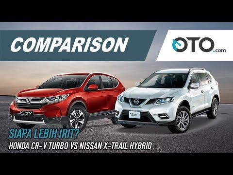 Nissan Vs Honda >> Nissan X Trail Hybrid Vs Honda Cr V Turbo Comparison Siapa Lebih Irit Oto Com