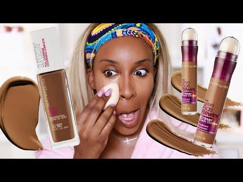 Edges SLAUGHTERED: Maybelline Superstay Foundation + Instant Age Rewind Concealer | Jackie Aina