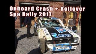 |BIG CRASH| Onboard Shakedown Spa Rally 2017 Ford Escort BDG