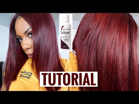 FROM BLACK TO BURGUNDY BLISS! FALL HAIR COLOR+CUT TUTORIAL⎮WONDESS ALIEXPRESS