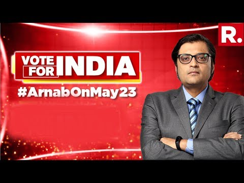 Arnab Is Now LIVE As The Biggest Day Of Indian Democracy Is Finally Here | #ArnabOnMay23