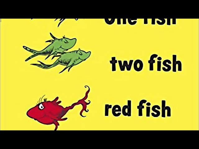 One Fish Two Fish Red Fish Blue Fish + Free gift