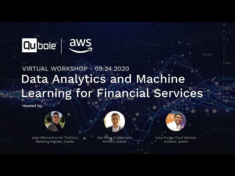 Qubole Virtual Masterclass: Data Analytics & Machine Learning for Financial Services