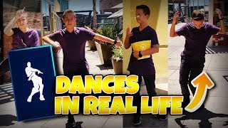 FORTNITE DANCES IN REAL LIFE (In Public)