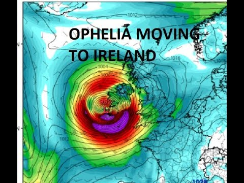 OPHELIA APPROACHING IRELAND AS IT TRANSITIONS TO A POWERFUL EXTRA TROPICAL CYCLONE