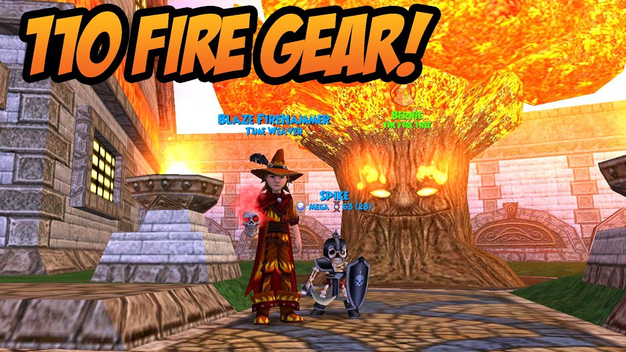 Wizard101 Got The Gear I Wanted Lvl 110 Fire Gear Setup Youtube