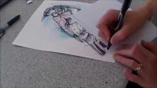 Tui - Speed painting by Fiona-Clarke.com