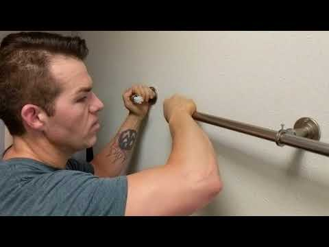 """Adding/Removing Curtain Panels from 1"""" Industrial Pipe Style Blackout Curtain Rod Set - Rod Desyne"""