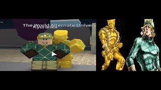 Roblox Hajikers Bizarre Adventure The World Alternate Universe Showcase!