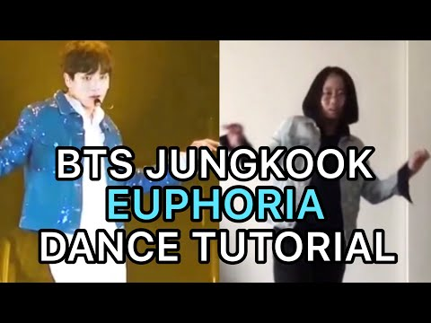 BTS 방탄소년단 Jungkook Euphoria Mirrored Tutorial+Dance Cover
