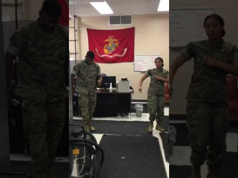 Juju on that beat challenge Marine Corps style!
