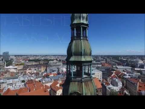 The Old Town of Riga from Bird's Eye View
