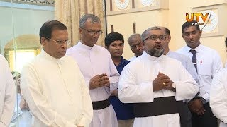 President at St Anne's Shrine in Thalawila