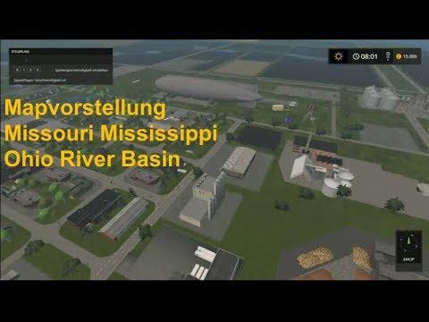 Mapvorstellung Misouri Mississippi Ohio River Basin