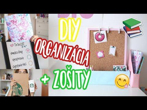 DIY organizácia + zošity   BACK TO SCHOOL   Patra Bene
