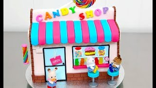CANDY SHOP Cake  with Miniatures How To Make by Cakes StepbyStep