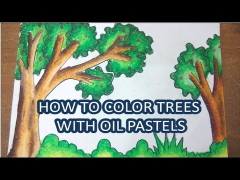 Tutorial Mewarnai Pohon Menggunakan Crayon How To Color Trees With