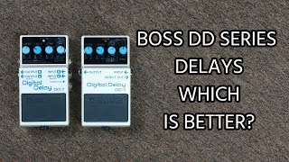 BEST DD SERIES DELAY: Boss DD-3 vs DD-7 Digital Delay Comparison (DD3 vs DD7)