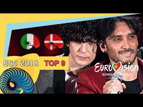 Eurovision 2018 - My Top 9 So Far [New: ITALY, DENMARK]