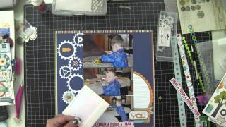 Scrapbook Layout, Process Video, All About A Boy (2014, Video 5)