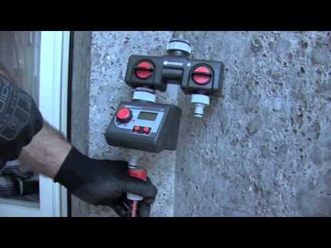 Irrigazione a goccia in vaso o in terrazzo - YouTube