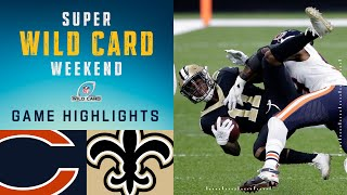 Bears vs. Saints Super Wild Card Weekend Highlights | NFL 2020 Playoffs