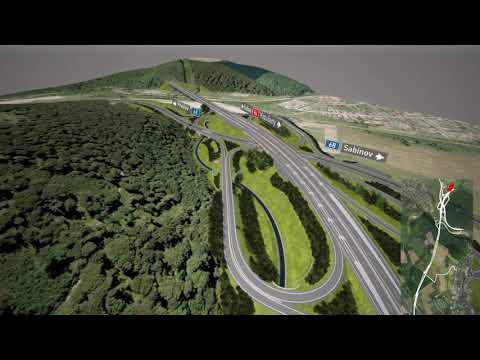 R4 Presov - severny obchvat - vizualizacia