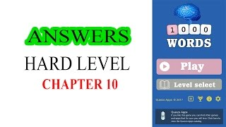 1000 WORDS GAME HARD LEVEL CHAPTER 10