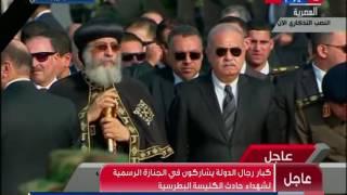 وصول رئيس الوزراء إالى مقر الجنازة الرسمية بالنصب التذكاري