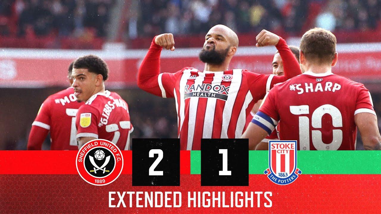 Sheffield United 2-1 Stoke City   Extended EFL Championship highlights   Didzy & Moose seal comeback