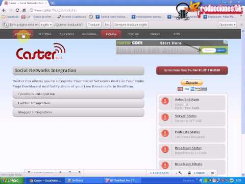 servidor para radio online (caster.fm)