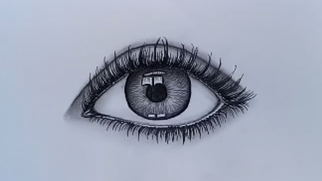 How to draw realistic eye for beginners With pencil sketch ...