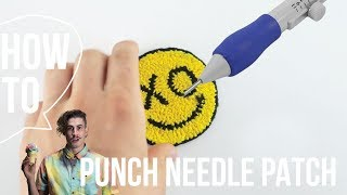 How To Make a Patch With a Punch Needle