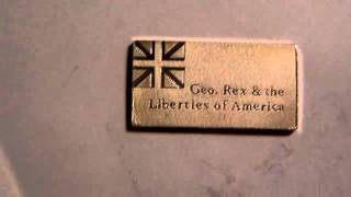 George Rex Flag Sterling Solid silver Bar