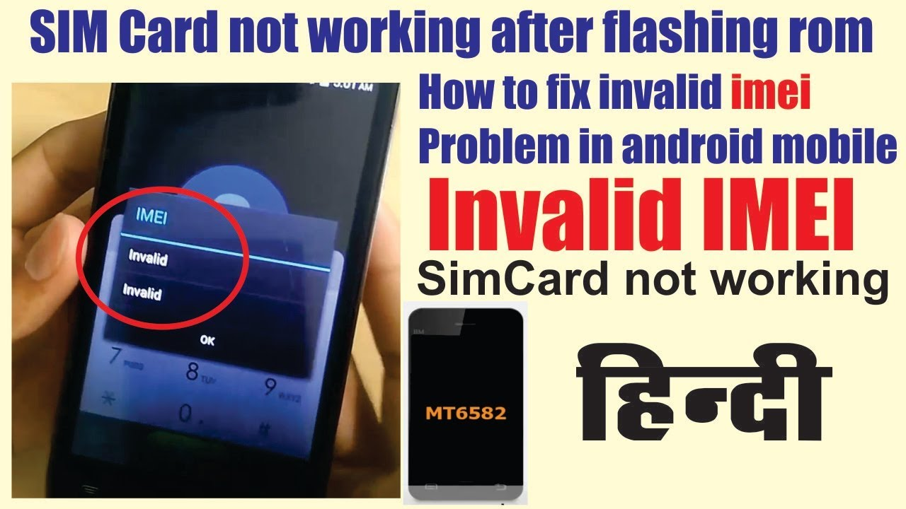 How to fix invalid imei after flash android mobile