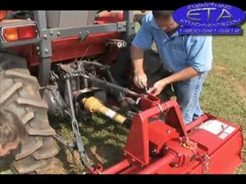 How To Rotary Tiller For 3point Hitch Pto Drive Youtube