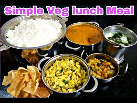 Simple Vegetarian lunch Meal |சைவ சாப்பாடு வகை| South indian veg lunch preparation