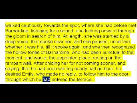 The Mysteries of Udolpho by Ann Radcliffe Part 3of4 (Book Reading, British English Female Voice)
