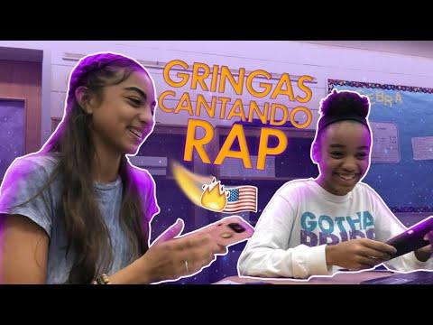 GRINGAS TENTANDO CANTAR RAP NA ESCOLA AMERICANA !!