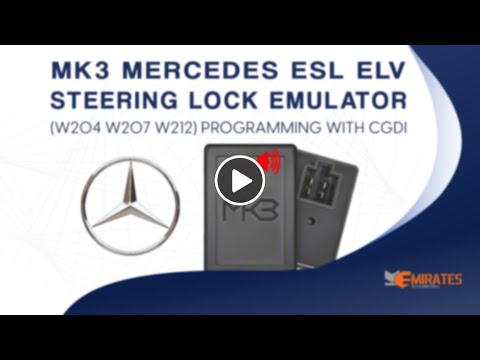 MK3 Mercedes ESL ELV Steering Lock Emulator W204 W207 W212 programming With CGDI