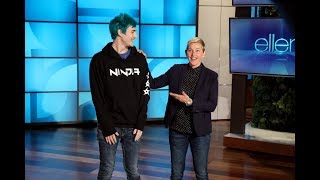 "With the mega success of video game ""Fortnite,"" Ellen invited one of the most popular gamers in the world, Tyler ""Ninja"" Blevins, to teach her how to play. Watch as Ninja chats about how he got into gaming, and attempts to teach Ellen how to play.   #Ninja #TeamNinja #Fortnite"
