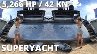 """€8,000,000 PERSHING 9X """"Rocket"""" SuperYacht WALKTHROUGH with SPECS / Outtakes at the End (read below)"""
